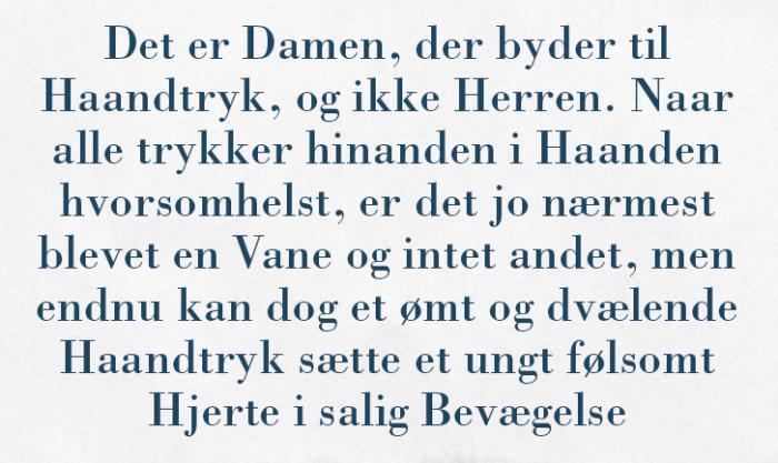 emma gad citater Håndtrykket har altid været til debat i Danmark   Information emma gad citater
