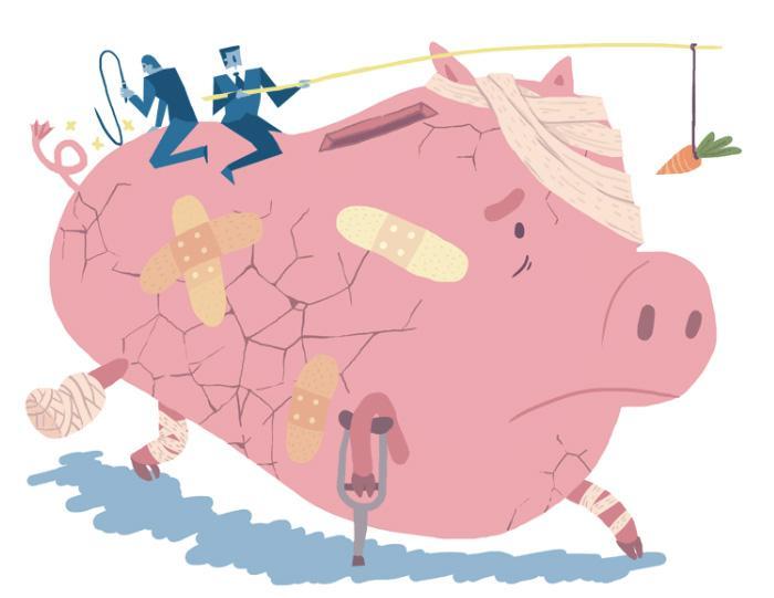 Hvordan skal man lære sine børn at spare op, når de taber penge på det? | Information
