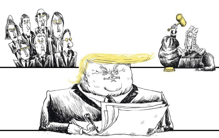 Præsident Donald Trump har haft travlt med at skrive dekreter, siden han blev indsat den 20. januar. Men hvor meget magt har han egentlig, hvad har han ikke magt til, og hvem vil kunne stoppe ham? Få nogle af svarene her
