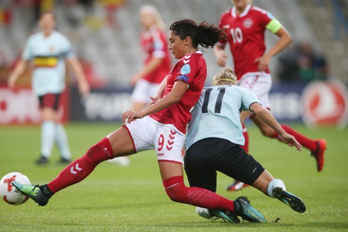 87a6630f0bc Nadia Nadim under kampen mod Belgien som endte 1-0 til Danmark.