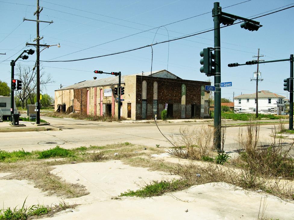 The Lower 9th Ward i New Orleans - området, hvor vandstanden var højest efter Katrina. I dag er området stadig præget af katastrofen. Foto: Espen Fyhrie