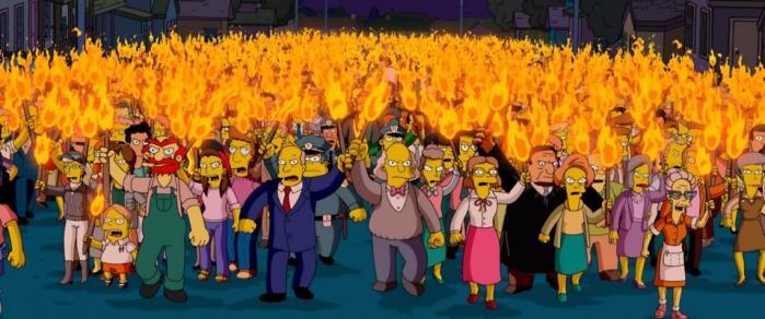 Når pøblen går amok - her illustreret ved hjælp af The Simpsons
