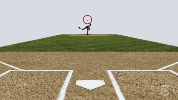 """Screendump fra produktionen """"How Mariano Rivera Dominates Hitters"""" fra The New York Times"""