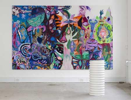 """Ida Kvetny går aldrig i stå med sit kunstneriske arbejde – hun har altid idéer og vilje til at realisere dem hurtigt. Efter et længere uddannelsesforløb i England er hun nu aktuel med udstillingen """"Blaze"""" på Galleri Kirkhoff"""