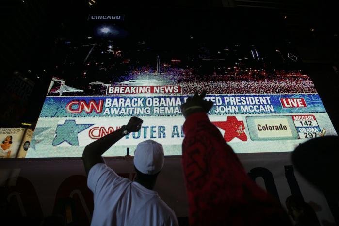 New York elsker Obama, og det kunne man se i byens gader hele valgnatten