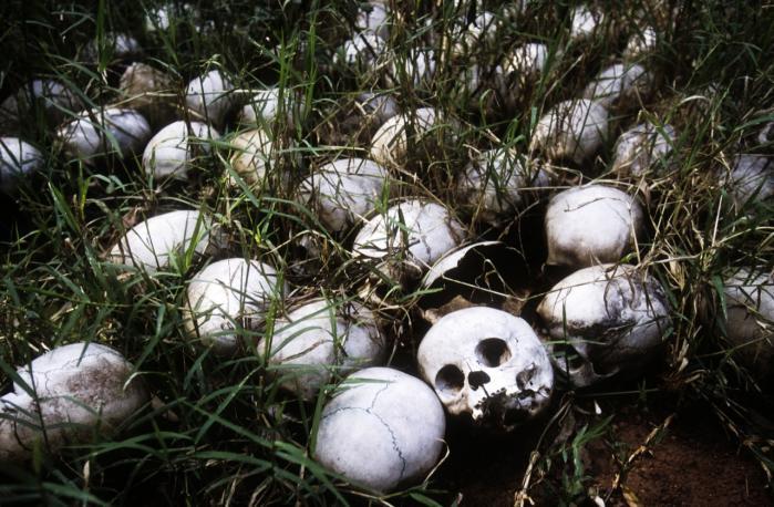 Rwanda. Hutuekstremisternes massakrer på tutsibefolkningen i 1994 kostede omkring 800.000 mennesker livet. Verdenssamfundets manglende indgriben dengang er en vigtig faktor i debatten i dag.