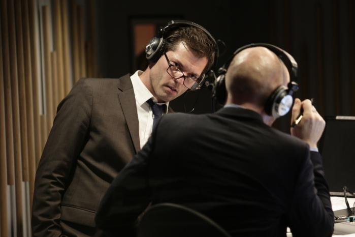 I luften. Radio24syvs kanalchefer, Mikael Bertelsen og Mads Brügger, skal sørge for, at kanalen hver dag nyproducerer 22 af 24 timer.