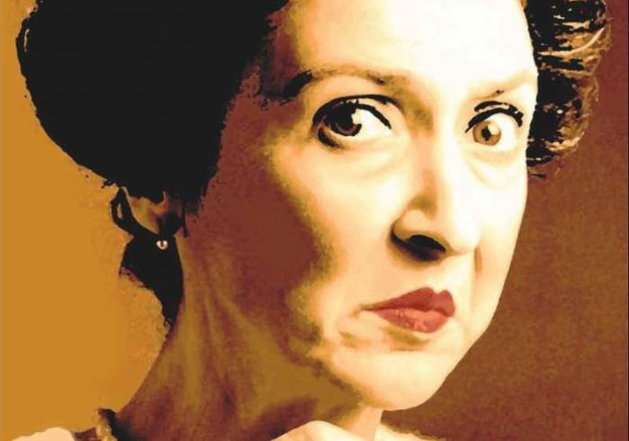 Bitterfissen Bethany, som hun ser ud – stram i betrækket – på sin blog og på omslaget af sin bog 'En bitterfisses bekendelser'