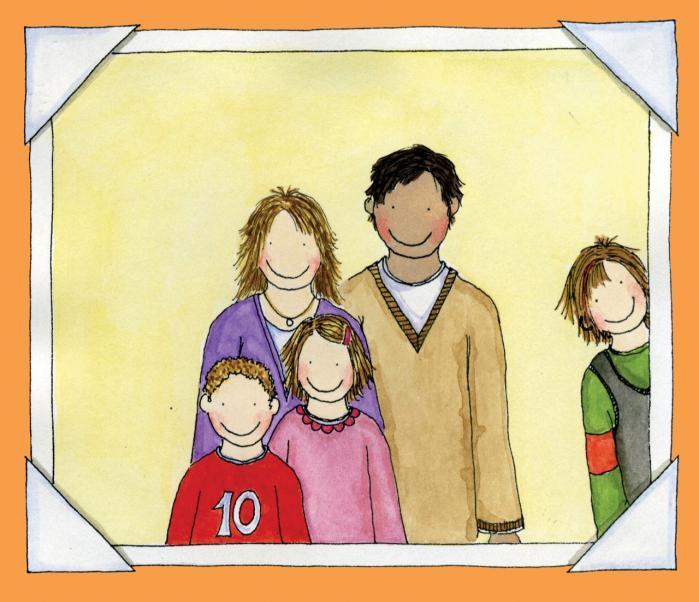 Billedbogen 'Forunderlige familier' handler om seks forskellige typer børnefamilier i lejlighederne i samme hus: Frederiks mor er død, Emilie er adoptivbarn, Mathilde er donorbarn, Sigurd og Freja er skilsmissebørn, Mikkel og Mathias er tvillinger og Esters mødre er lesbiske.