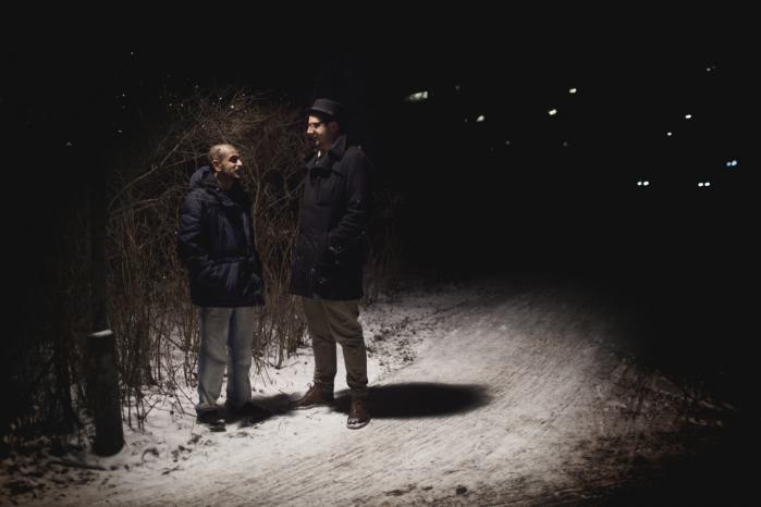 To af RadioSyndikatets tre hovedkræfter, rapperen Ali Sufi (tv.) og jazzentusiasten Mikkel 'Mister Flying Hips' Dysted. Den tredie er 'tba' fra hiphop-bloggen SPOL OP!.
