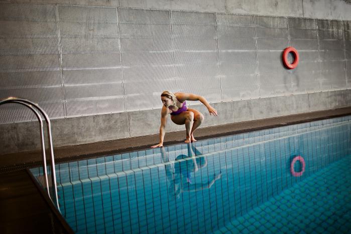 Tændt. Det er konkurrencen, der får mig i vandet. Jeg elsker ikke bare at træne, jeg elsker ikke det skidekolde vand om morgenen, og hvis jeg ikke havde et mål, kom jeg ikke ud af sengen, siger Jeanete Ottesen Gray.