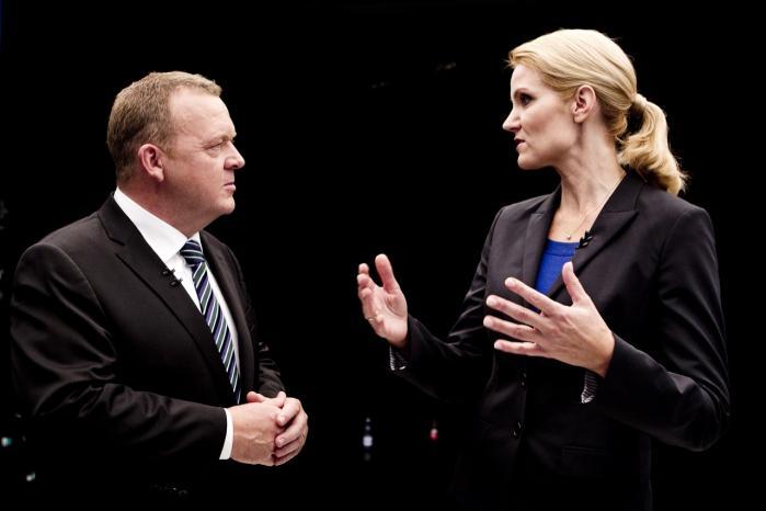 Helle Thorning-Schmidt kæmpede under valgkampen i 2011 for en milionærskat, men den blev droppet efter valget. Det var nok uklogt, siger valgforskere. Her debatterer Helle Thorning-Schmidt med Lars Løkke Rasmussen under valgkampen.