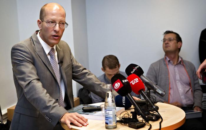 Professor Jesper Rangvid præsenterede rapportenpå et pressemøde onsdag formiddag. Foto: Scanpix