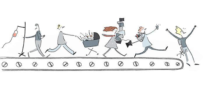 300.000 danskere lider af alvorlig stress. Men tilgangen til problemet er useriøs og blottet for ethvert strukturelt og kulturelt perspektiv. Det er individet, og individet alene, der har ansvaret
