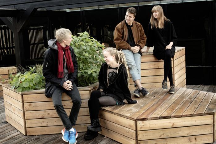 Johan Aagaard Hagemann,   Rebecca Mielonen Rothenborg, Albert Faureholm Laursen og Rose Marie Tom-Petersen er gået i gang med en grøn omstilling af deres gymnasier. De tør ikke vente på, at politikerne gør noget ved klimaproblemerne.