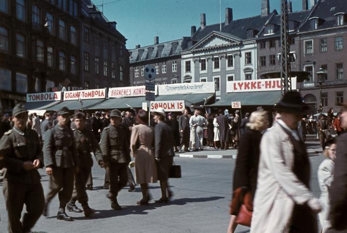 Tyske soldater på Gl. Torv i København under besættelsen