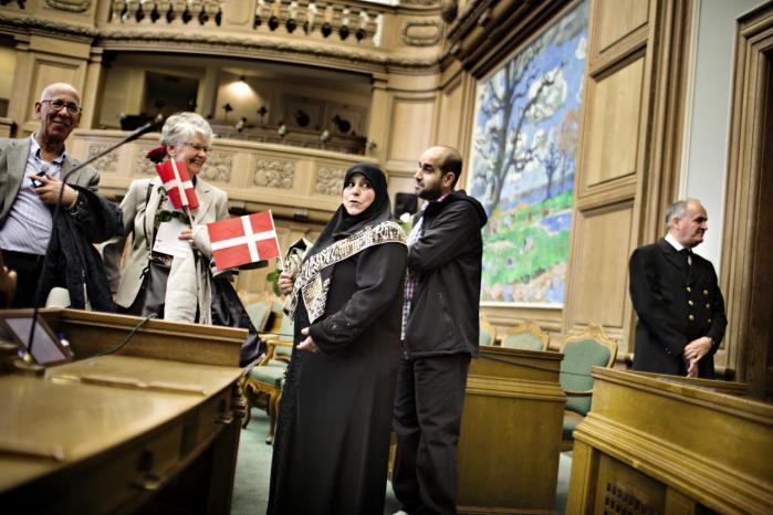 Den årlige statsborgerskabsdag, hvor nye danske statsborgere fejres på Christiansborg. Nyt forslag fra Inger Støjberg vil betyde, ansøgninger om statsborgerskab fra de seneste 14 måneder skal gå om