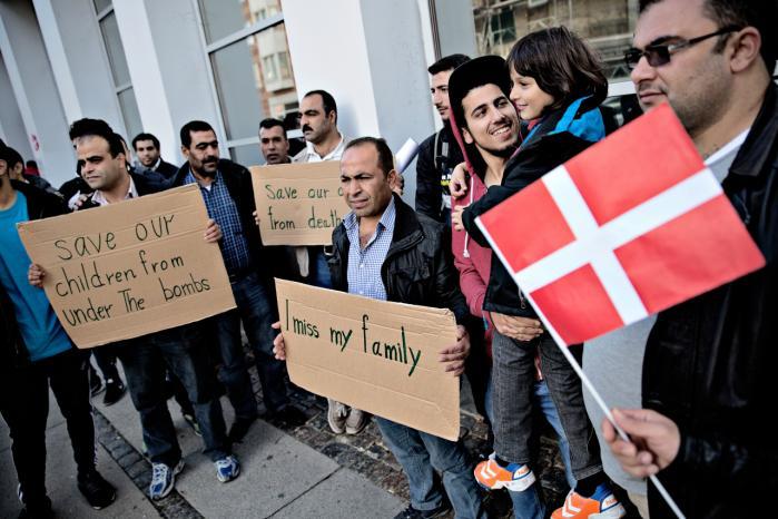Syriske flygtninge demonstrerede sidste år foran udlændingestyrelsen i Ryesgade på Østerbro mod styrelsens lange sagsbehandlingstid af familiesammenføringer.