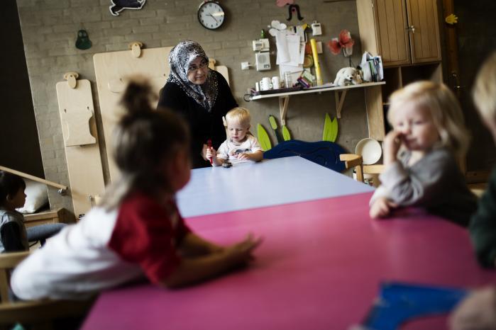 Der er i gennemsnit stor forskel på børnehavebørns sproglige og sociale færdigheder, alt efter om deres forældre har ikkevestlig eller dansk baggrund, viser ny undersøgelse. Arkivfoto: