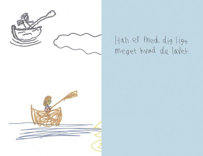 Tegningen er lavet af Esben Kjærs dengang 9-årige søn David, som et led i hans bearbejdning af sin 7-årige brors død. Den blev senere udgivet som en del af Davids bog 'Hvordan man har en usynlig bror', www.DavidCozmo.com