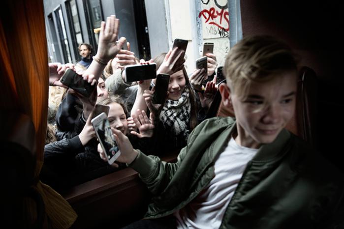 Information har fulgt de to 15-årige norske superstjerner Marcus & Martinus, da de for nylig var på besøg i Danmark