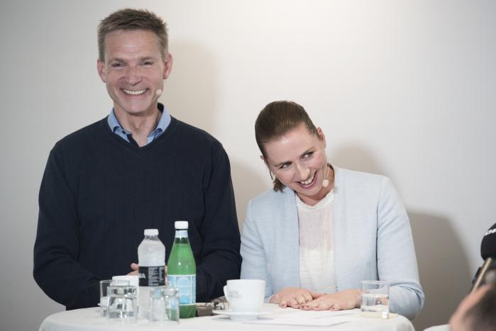 Dansk Folkepartis formand, Kristian Thulesen Dahl, og Mette Frederiksen, Socialdemokratiets formand, mødtes i weekenden debat ved Folkemødet på Bornholm.