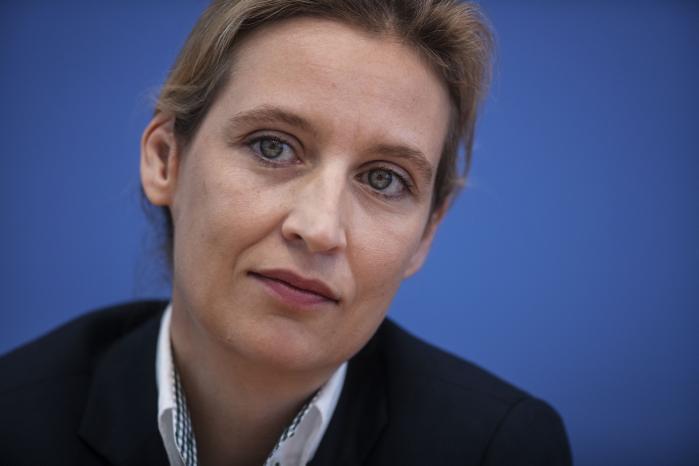 'Nye tyskere? Dem laver vi selv!' lyder teksten under den gravide, hvide mave på det indvandrerkritiske Alternative für Deutschlands valgplakat. Partiets ene spidskandidat, økonomen Alice Weidel, viste sig at være rygende uenig i budskabet, da Information mødte hende i Berlin.