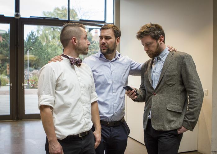 Grønne iværksættere kæmper om ære og en pose penge, når Green Tech Challenge afholder konkurrence. Her er stifterne af GTC, Martin A. Pedersen, Joachim Høegh Almda og Frederik van Deurs. Pressefoto