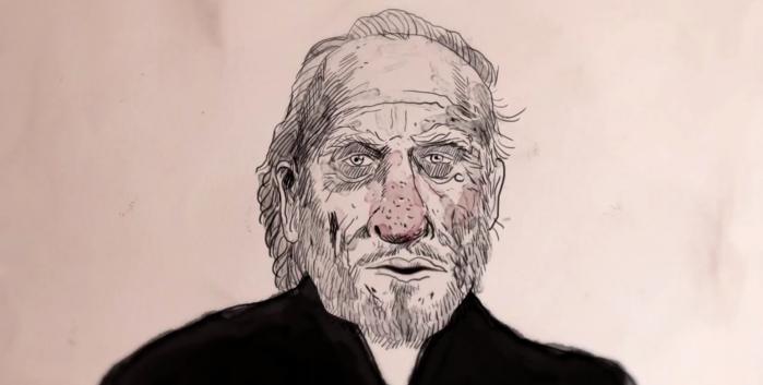I 1993 blev der optaget en samtale mellem Charles Bukowski, hans kone og hans producer i Bukowskis lejlighed. Det er året før han dør og perioden han kæmper med sygdom og færdigskrivningen af hans sidste roman Pulp.