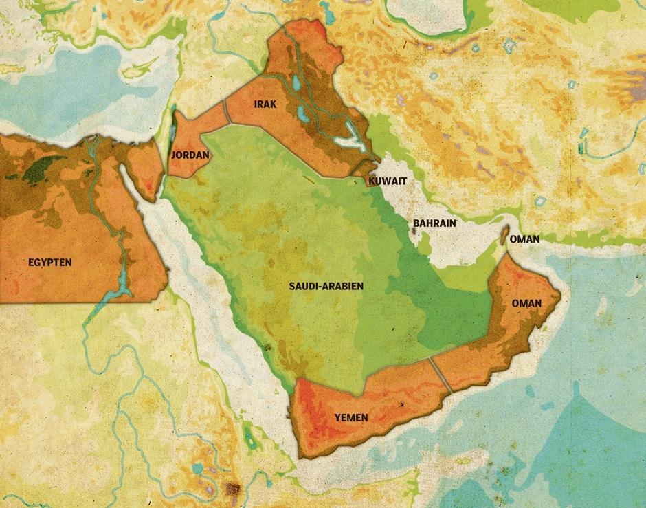 Saudi Arabien Olieoen I Revolutionernes Hav Information
