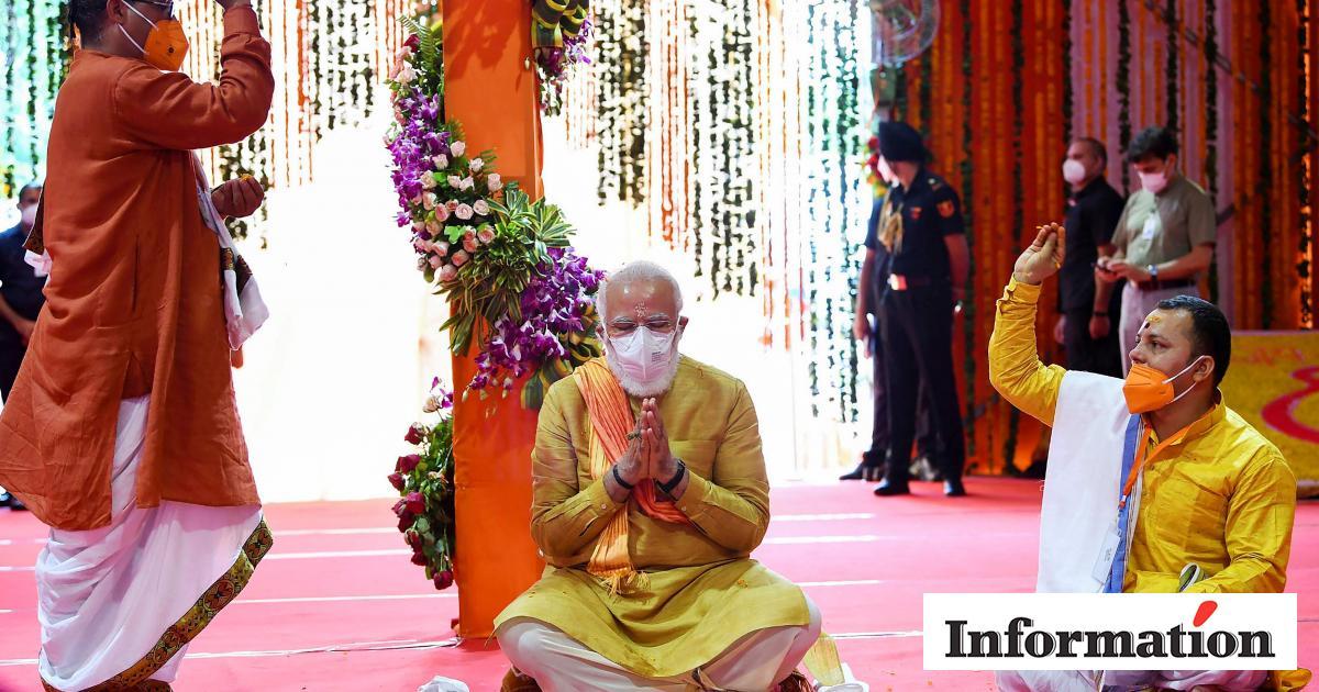 Narendra Modi: Nu bygger han vigtigt hindutempel, hvor der...