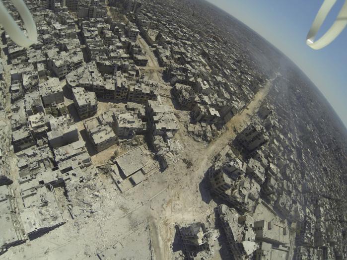 Hvad dronen så i Homs