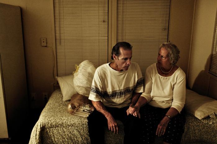 Efter at have siddet 18 år i fængsel blev Dave anbragt på ubestemt tid i det berygtede Jimmy Ryce-center. Nu er han frigivet og  er netop flyttet ind i trailerparken med sin mor. Foto: Steven Achiam