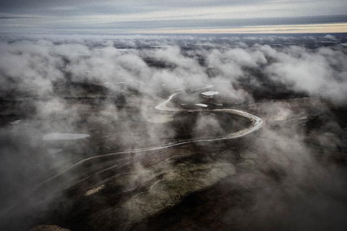 Yamal Halvøen - en af jordens sidste store ødemarker. En 700 km lang halvø af søer og tundra, der strækker sig langt ind i Det Arktiske hav. Foto: Yuri Kozyrev