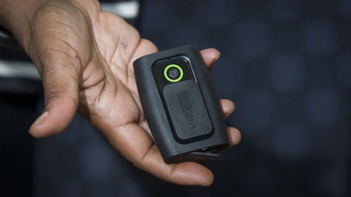 Eksempel på et af de kropskameraer, som det amerikanske politi har testet