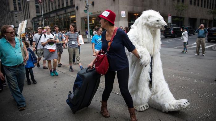 310.000 var på gaden for klimaet i New York søndag