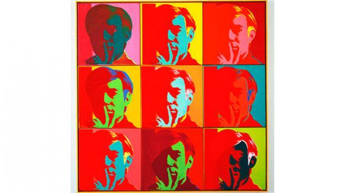 Andy Warhols selvportræt fra 1966.
