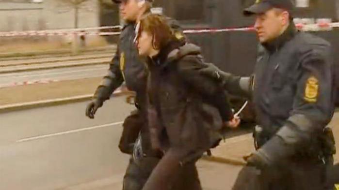 Den omstridte tyske agent Maria Block blev frihedsberøvet under klimatopmødet i København i 2009. Nu erkender PET, at hun var i landet efter aftale med den danske efterretningstjeneste. Foto fra Spiegel