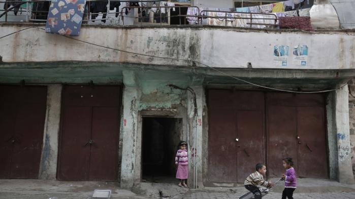 Børn leger i byen Diyarbakir i Tyrkiets sydøstlige region, Bakur, hvor der hovedsageligt bor kurdere.