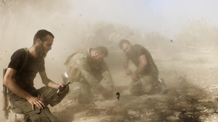 Aleppo den. 8. august efter at regimets belejring er blevet nedkæmpet. Der er dog forsat voldsomme kampe om den vigtige by mellem oprørsgrupper (billedet) og Assads hær