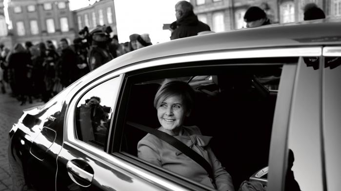 Mette Bock ved minister-udnævnelsen i mandags.