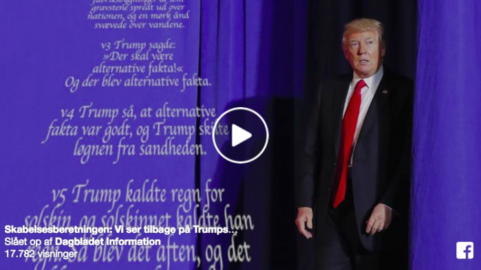Vi ser tilbage på Trumps første uge som præsident – fortalt som Skabelsesberetningen