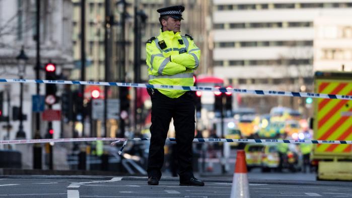 Politiet afspærrede onsdag området ved Parliament Square.