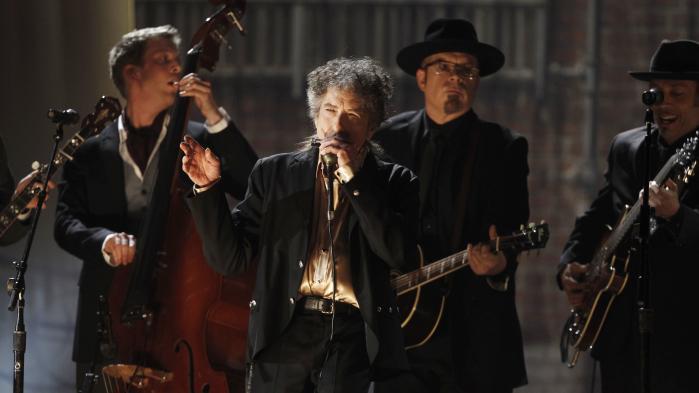 Bob Dylan ved en koncert i Sverige sidste år