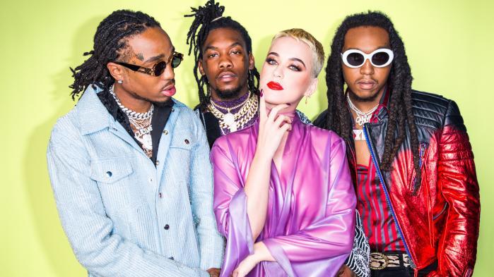 Den amerikanske superstjerne Katy Perry samarbejder på singlen 'Bon Appétit' med de tre rappere fra gruppen Migos. Ikke det mest spændende match rent kunstnerisk.
