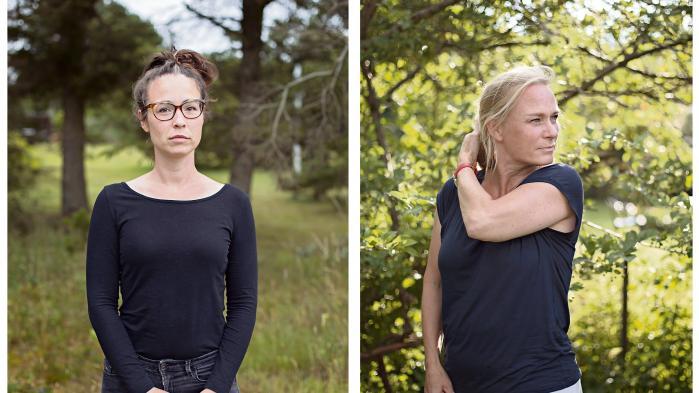 SarahVoschero (tv.) ogSille Kragh (th.) fraPsykologhuset for Børn og Unge under Københavns Kommunestår frem i protest mod, at arbejdet med nogle af de mest udsatte børn er blevet forvandlet til »en pølsefabrik«.