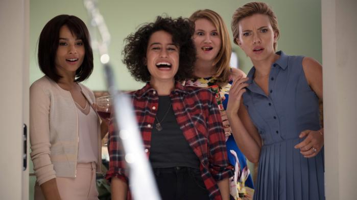 Filmens fire hovedpersoner spilles af Zoë Kravitz,Ilana Glazer,Jillian Bell ogScarlett Johansson.