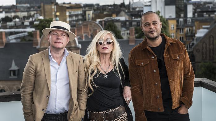 Dommertrioen til den sidste omgang X Factor: Thomas Blachman, Sanne Salomonsen og Remee
