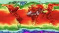 Kortet viser maksimumtemperaturer på globalt plan torsdag den 5. juli. Især i Nordeuropa, i det østlige USA, i Sibirien og i Nordafrika er der tale om markante afvigelser fra normaltemperaturen for området. Kilde: Climate Reanalyzer