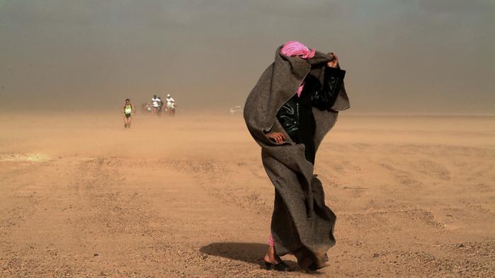 Foto fra ørkenen ved Tindouf i Algeriet.
